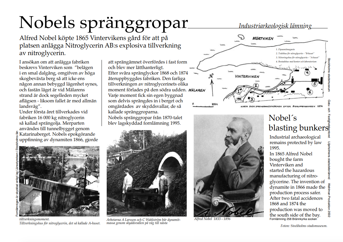 Alfred Nobels spränggropar