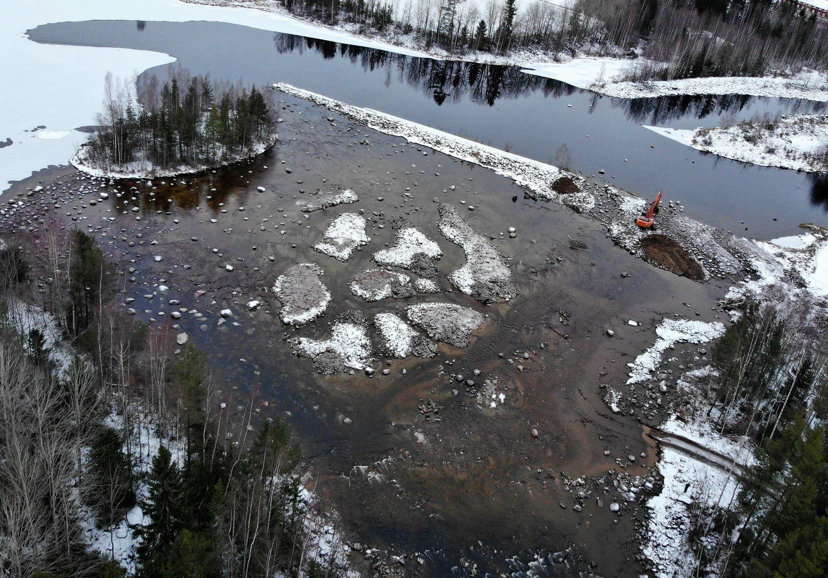 Lillströmmen under miljöåtgärderna, Foto: Anders Bruks